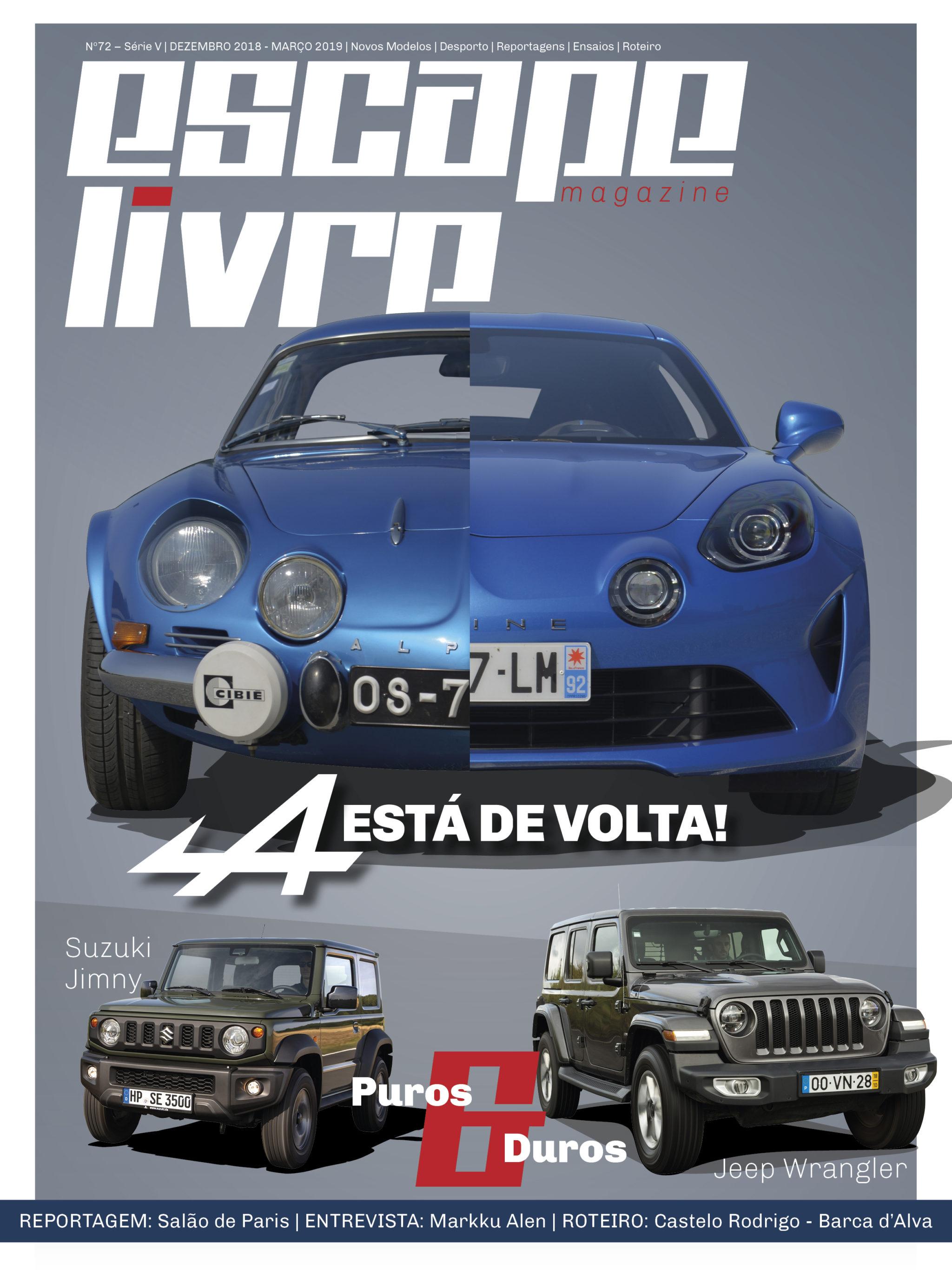 Capa Escape Livre Magazine 72
