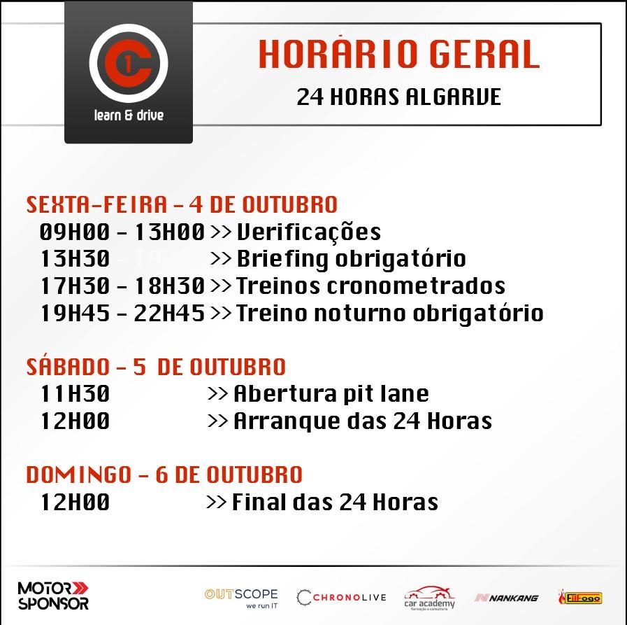 Horário 24 horas Algarve C1