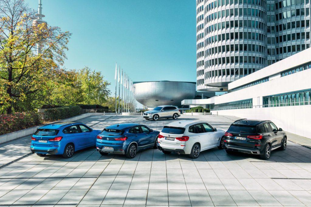 Vista aérea dos novos plug-in BMW