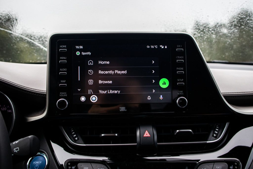Toyota Android auto Spotify