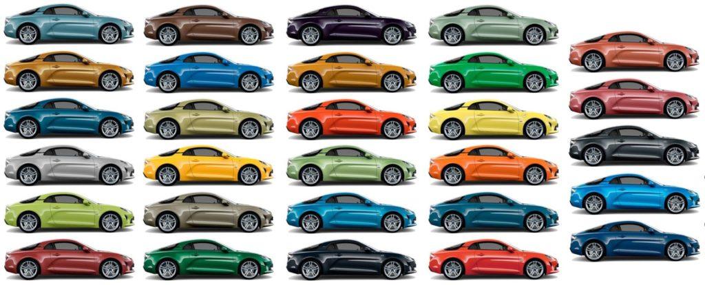 palette couleurs alpine atelier 2020