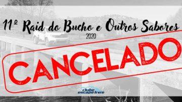 11º RAID DO BUCHO CANCELADO