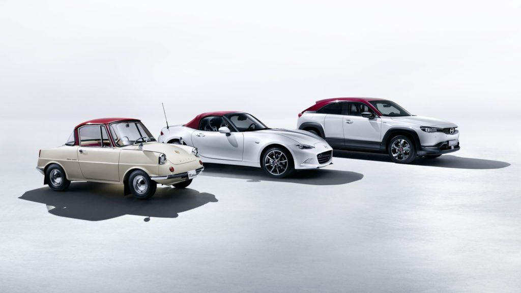 Line up Mazda 100th ammiversary