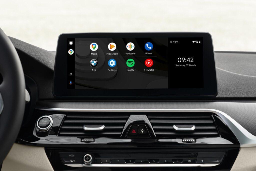 BMW 5 series info entretenimento android auto