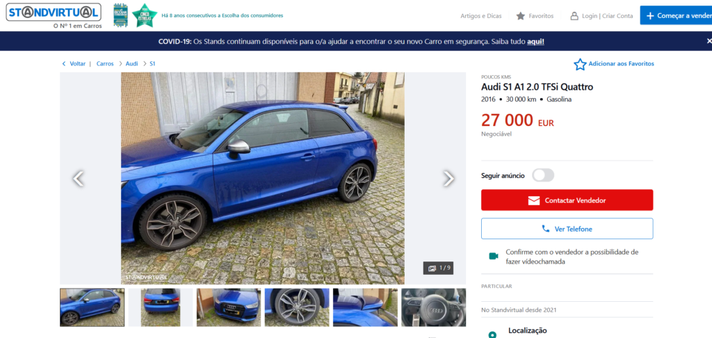 Audi S1 anuncio