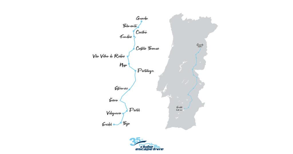 percurso rotas de portugal en18 2021