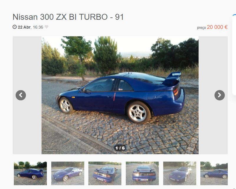 Nissan 300ZX anúncio