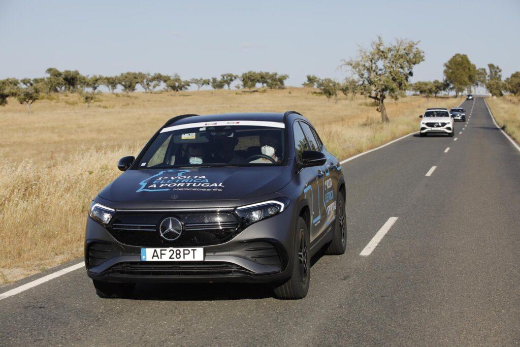 Volta Elétrica a Portugal Mercedes EQA 10