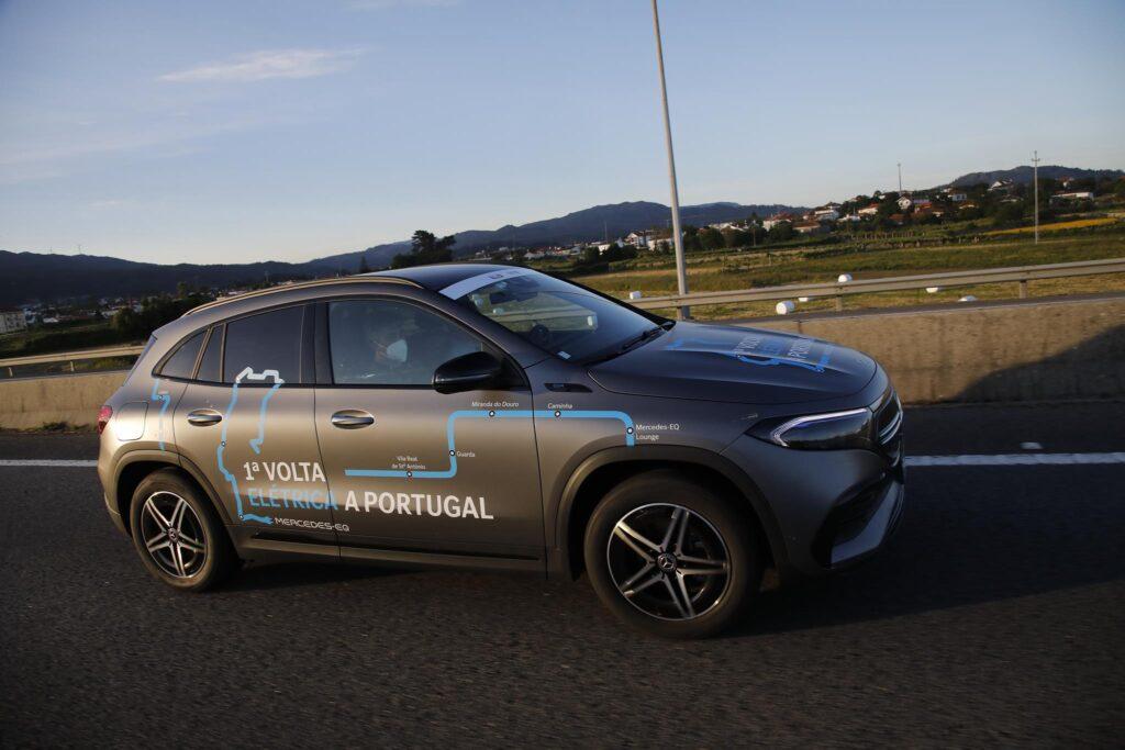 Volta Elétrica a Portugal Mercedes EQA 16
