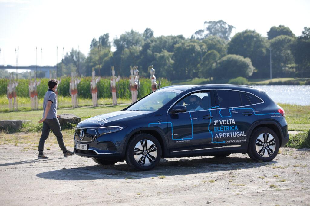 Volta Elétrica a Portugal Mercedes EQA 76