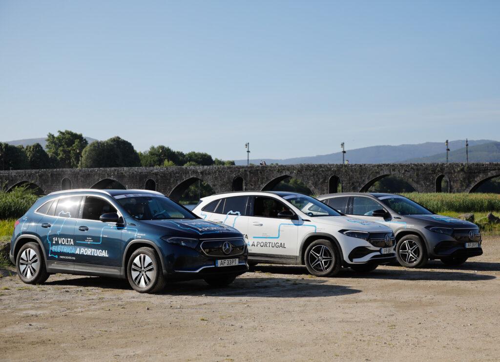 Volta Elétrica a Portugal Mercedes EQA 77