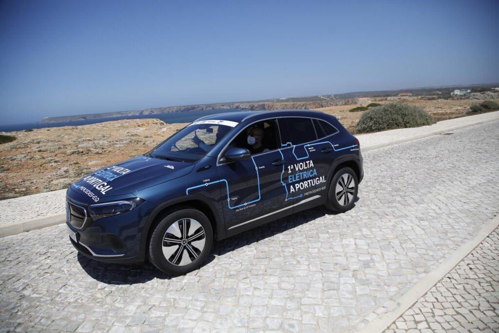 Volta Elétrica a Portugal Mercedes EQA 9