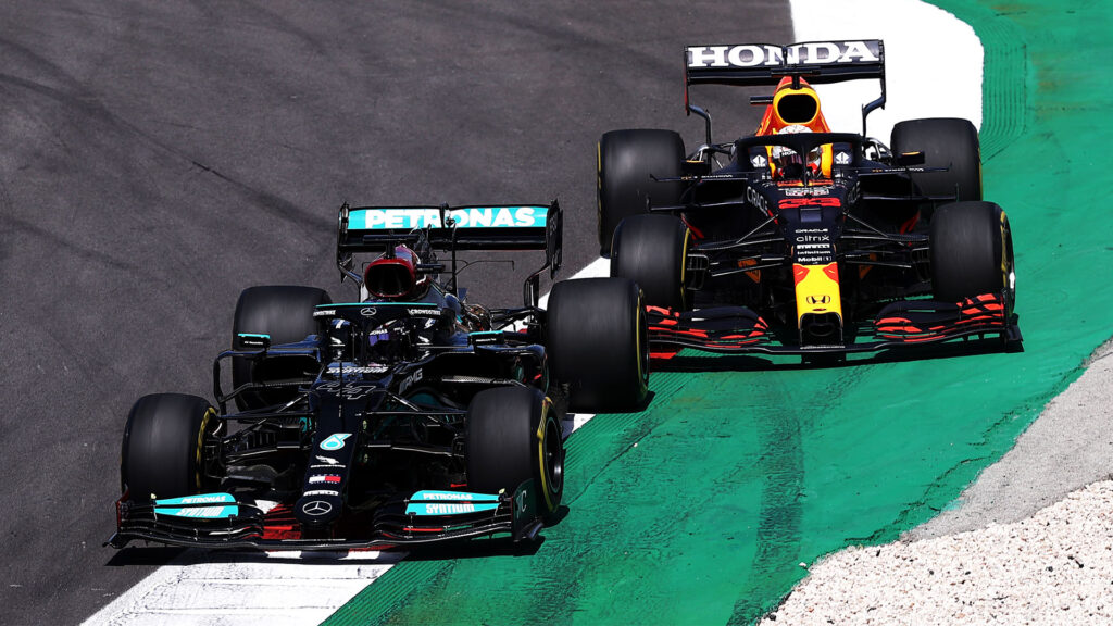 hamilton and verstappen formula 1 portugal 2021