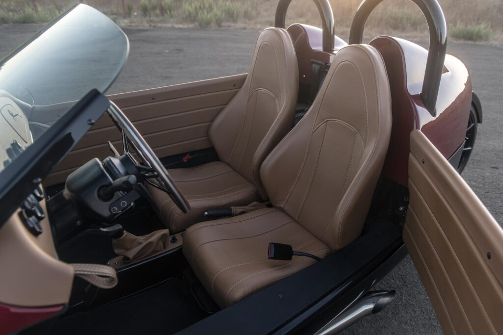 Vanderhall Carmel Leather Seats Open Door