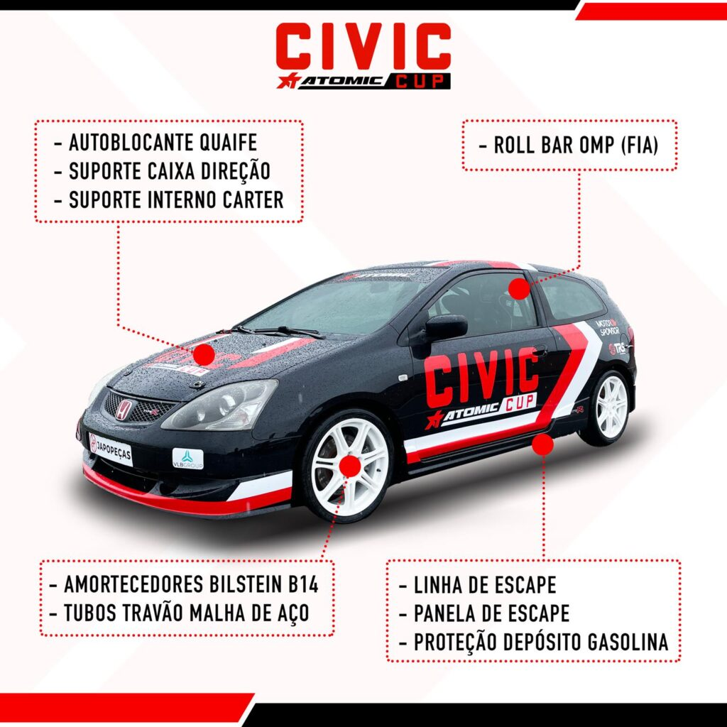 Civic Atomic CUP Preparacao